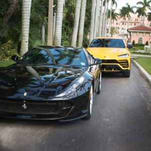 Robb Report Car of the Year Boca Raton, Boca Raton Resort & Club, Ferrari 812 Superfast and Lamborghini Urus